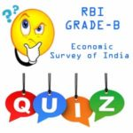 Economic Survey of India Quiz for RBI Grade B