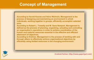 Concept of Management: Definition and Characteristics - Paper Tyari