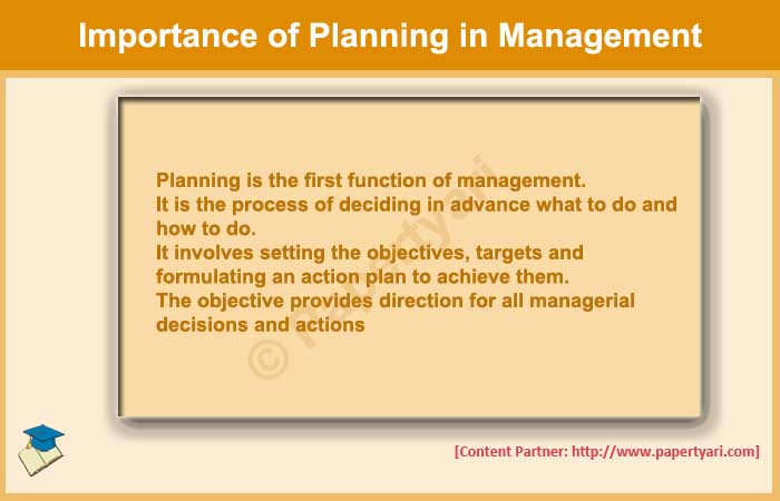 What Is Importance Of Planning In Management