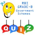 RBI GRADE B Government Schemes Questions