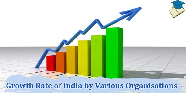 India GDP Growth Rate by Various Organisations