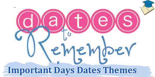 Important Days Dates 2021