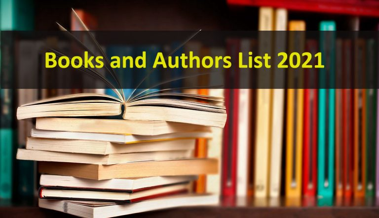 Books and Authors List 2021