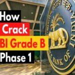 how to crack rbi grade b phase 1