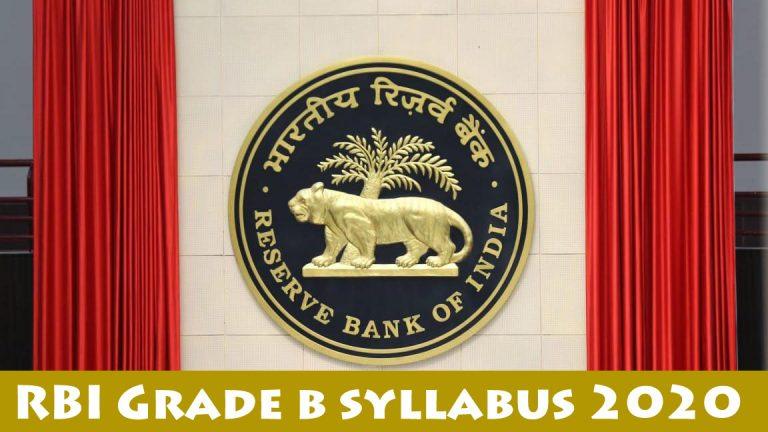 rbi grade b syllabus 2020