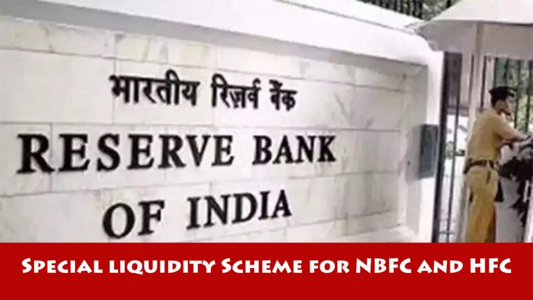 Special Liquidity Scheme for NBFC and HFC