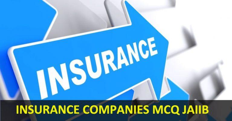insurance companies mcq jaiib