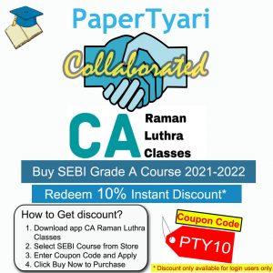 Papertyari SEBI Grade A 2021 course